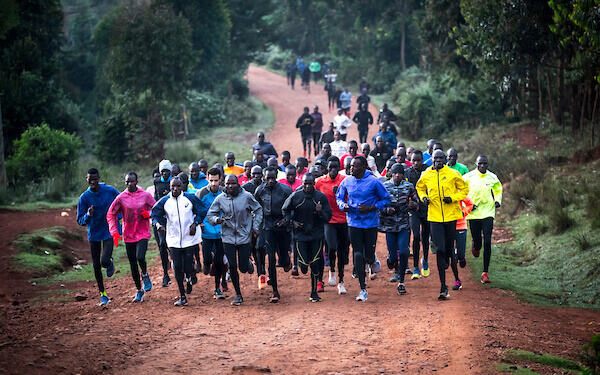 Runners in Iten Kenya